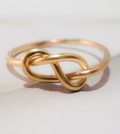 Love Knot Gold Ring by Tarnished & True on Scoutmob Shoppe