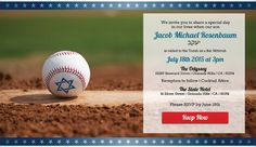 Bar Mitzvah Invitations - Baseball / Sports Theme from Mitzvites - mazelmoments.com
