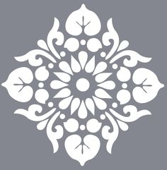This small scale version of the Kota Stencil is perfect for smaller areas and works beautifully as a repeating design. Use this modern stencil on f. Stencil Templates, Stencil Patterns, Stencil Designs, Embroidery Patterns, Tile Patterns, Hand Embroidery, Stencil Decor, Stencil Fabric, Bird Stencil