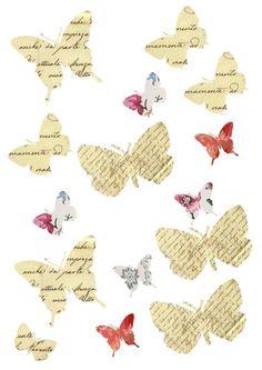 Free collage sheet of butterflies Printable Labels, Printable Paper, Free Printables, Paper Art, Paper Crafts, Diy Crafts, Free Collage, Butterfly Cards, Paper Butterflies
