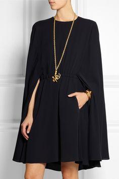 Valentino | Cape-style silk-crepe mini dress