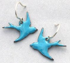 bird earrings by ThisIsHighContrast on Etsy, $18.00