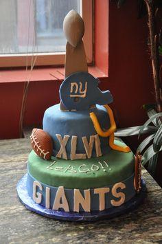 NY Giants Super Bowl Cake