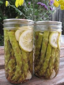 Pickled asparagus - just made this, I added dill, used & pickling spice I didn't add lemon. I'll let everyone know how they turned out.