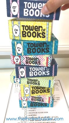 "Reading Log Alternative: ""Tower of Books"" {An Independent Reading Challenge} - Handprint Kindergarten Reading Logs, Reading Workshop, Kids Reading, Guided Reading, Teaching Reading, Teaching Ideas, Learning, 6th Grade Ela, 5th Grade Reading"