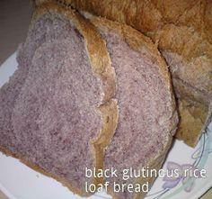 Cooking Pleasure: Black Glutinous Rice Loaf Bread [Straight Dough Method]