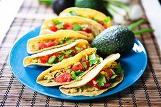 Cilantro Avocado Chickpea Salad Tacos #vegan