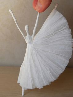 You will love these Paper Napkin Ballerinas and it's the cutest craft ever. Turn them into a mobile for a childs room! Watch the video instructions now.