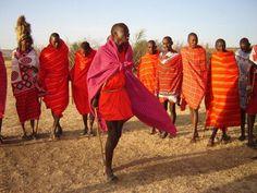 #TembeaKenya always make sure to enjoy the #Maasai cultural dance in their villages at the #MaasaiMara