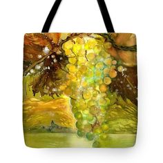 Chardonnay Grapes in sunlight Tote Bag by Sabina Von Arx Yellow Bathroom Decor, Autumn Lights, Thing 1, Green Grapes, Warm Autumn, Basic Colors, Beautiful Paintings, Bag Sale, Color Show