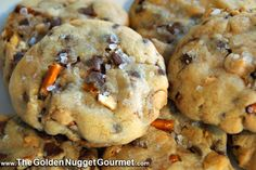 The Golden Nugget Gourmet: Pretzel Cookies with Chocolate and Peanut Butter Chips