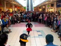 Irish Dancing to Michael Jackson at Foyleside Shopping Centre, N.Ireland – AMAZINGLY TALENTED young lady!