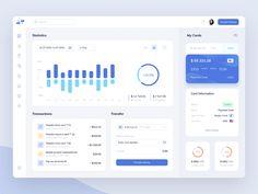 Bank - Dashboard by Igor Fartushny on Dribbble Data Dashboard, Digital Dashboard, Dashboard Design, Wireframe Design, Web Ui Design, Interface Design, Desktop Design, Ui Patterns, Ecommerce Website Design