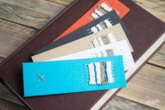 Marque-page papier tissage