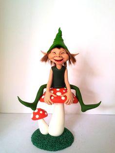 Elves And Fairies, Clay Fairies, Polymer Clay Fairy, Baby Fairy, Clay Figures, Leprechaun, Goblin, Clay Crafts, Faeries