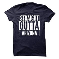 Straight Out Arizona T-Shirts, Hoodies. ADD TO CART ==► https://www.sunfrog.com/States/Straight-Out-Arizona.html?id=41382