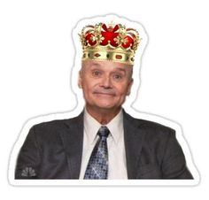 """""""King Creed (the office)"""" Stickers by Alyssa Mio Red Bubble Stickers, Cute Stickers, Creed The Office, The Office Valentines, The Office Stickers, Laptop Stickers, Paint My Room, Threat Level Midnight, Office Icon"""