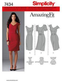 Schnittmuster: Etuikleid - Kleider - Simplicity - burda style
