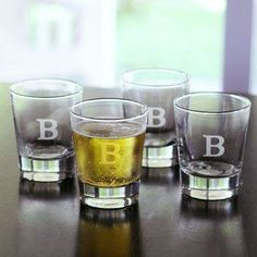 Father's Day gift idea: Personalized Double Old Fashioned Glasses.