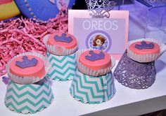 Oreos at a Sofia the First Princess Party #princess #sofiathefirst