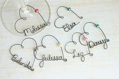 Personalized wine glass charm.