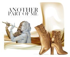 """""""Golden Part of me"""" by sabine-713 ❤ liked on Polyvore featuring Gianvito Rossi"""
