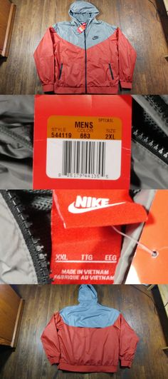 d50d51cf01dc Activewear Jackets 185702  Men S Nike Windrunner Jacket 544119-663 Size 2Xl  Xxl Burnt Orange Gray Nwt! -  BUY IT NOW ONLY   54.99 on  eBay  activewear  ...