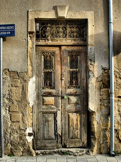 Old door, Nicosia. Of all the doors in all the world. other than my own very ordinary front door!