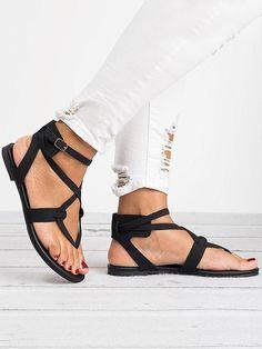 3ddc986126d 2018 Summer Bandage Beach Flat Sandals For Women
