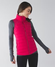 We layer this slim-fitting vest over a tee or under a jacket  before we hit the road in chilly weather. We filled it with 800-fill-power goose down and PrimaLoft® insulation to keep us warm, even when we get a little damp. Water- and wind-resistant Stretch Glyde fabric  help fend off the elements so we stay in our element.