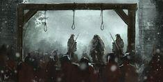 Execution, Reha Sakar on ArtStation High Fantasy, Fantasy Rpg, Fantasy World, Medieval Art, Medieval Fantasy, Character Art, Character Design, Science Fiction, Fantasy Places