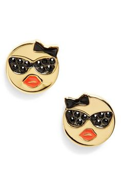 kate spade new york 'tell all' emoji stud earrings | Nordstrom