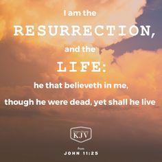 KJV Verse of the Day: John 11:25