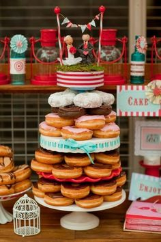 A donut wedding cake...I would do this! Cheap and Yummy!