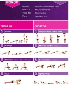 Kayla Itsines arm circuit