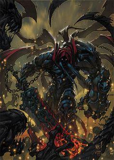 Darksiders artwork by the game creative director and comic book artist Joe Madureira. Joe Madureira, Darksiders Horsemen, Darksiders Game, Darksiders Death, Comic Book Artists, Comic Artist, Comic Books Art, Dark Fantasy Art, Character Concept