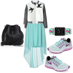 A fashion look from December 2015 featuring Duck Farm dresses, NIKE athletic shoes and Rebecca Minkoff shoulder bags. Browse and shop related looks.