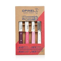 Opinel 4-Piece Essentials Knife Set