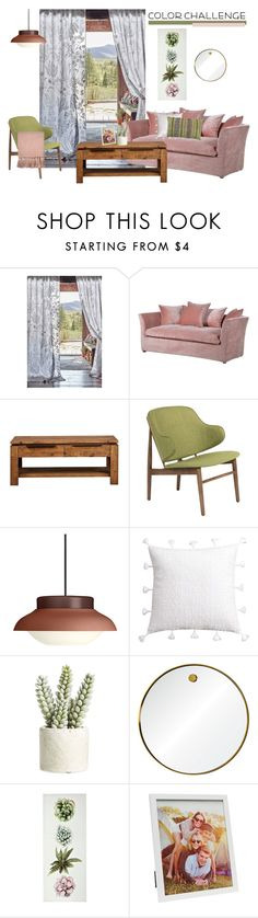 """Airy Olive Green & Blush"" by cdshep ❤ liked on Polyvore featuring interior, interiors, interior design, home, home decor, interior decorating, Anthropologie, Gubi, cupcakes and cashmere and Allstate Floral"