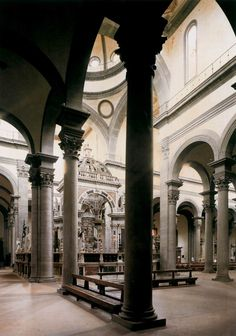 Inside the Santo Spirito Church.  Architect: Filippo Brunelleschi.