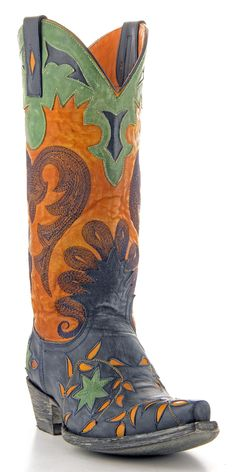 Womens Old Gringo Letty Boots Blue Jean #L1115-5