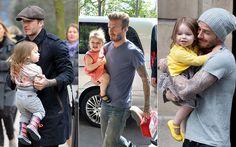 Pump Baby Trends: Harper se queda con todas - Con papá Beckham Celebrity, Celebs, Famous People
