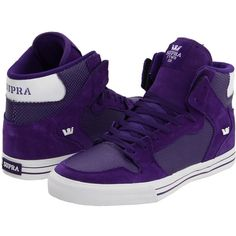 Supra Vaider (40 AUD) ❤ liked on Polyvore featuring shoes, sneakers, lightweight shoes, leather high tops, roll up shoes, high top leather shoes and genuine leather shoes