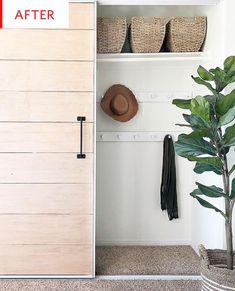 Wood Sliding Closet Doors, Diy Closet Doors, Mirror Closet Doors, Closet Door Makeover, Bedroom Doors, Master Bedroom, Hall Closet, Master Closet, Closet Space