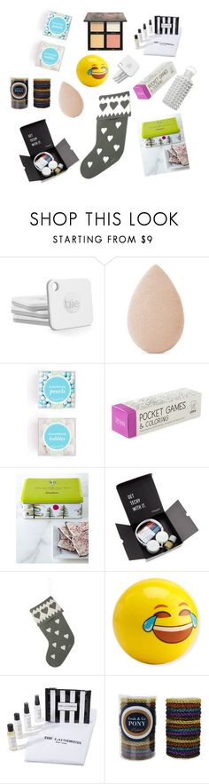 """stocking stuffers/ under $50"" by doubleljewelrybylauren on Polyvore featuring Neiman Marcus, Jan Constantine, Huda Beauty, The Laundress and bkr"