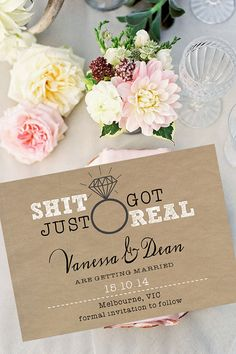 DIY Printable 'Shit Just Got Real' Rustic Save the by cookiesandry