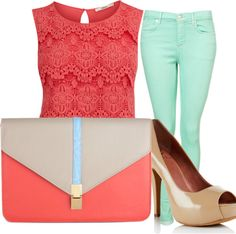 """""""Coral"""" by karlamckay on Polyvore"""