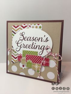 Paper Craft Crew 58 by - Cards and Paper Crafts at Splitcoaststampers Stamped Christmas Cards, Christmas Paper Crafts, Christmas Minis, Stampin Up Christmas, Xmas Cards, Holiday Cards, Christmas Ideas, Greeting Cards, Handmade Card Making