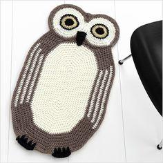 handmade owl rug - so cute!