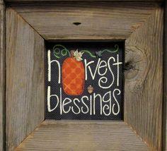 Signo de bendiciones cosecha enmarcado en por barbsheartstrokes